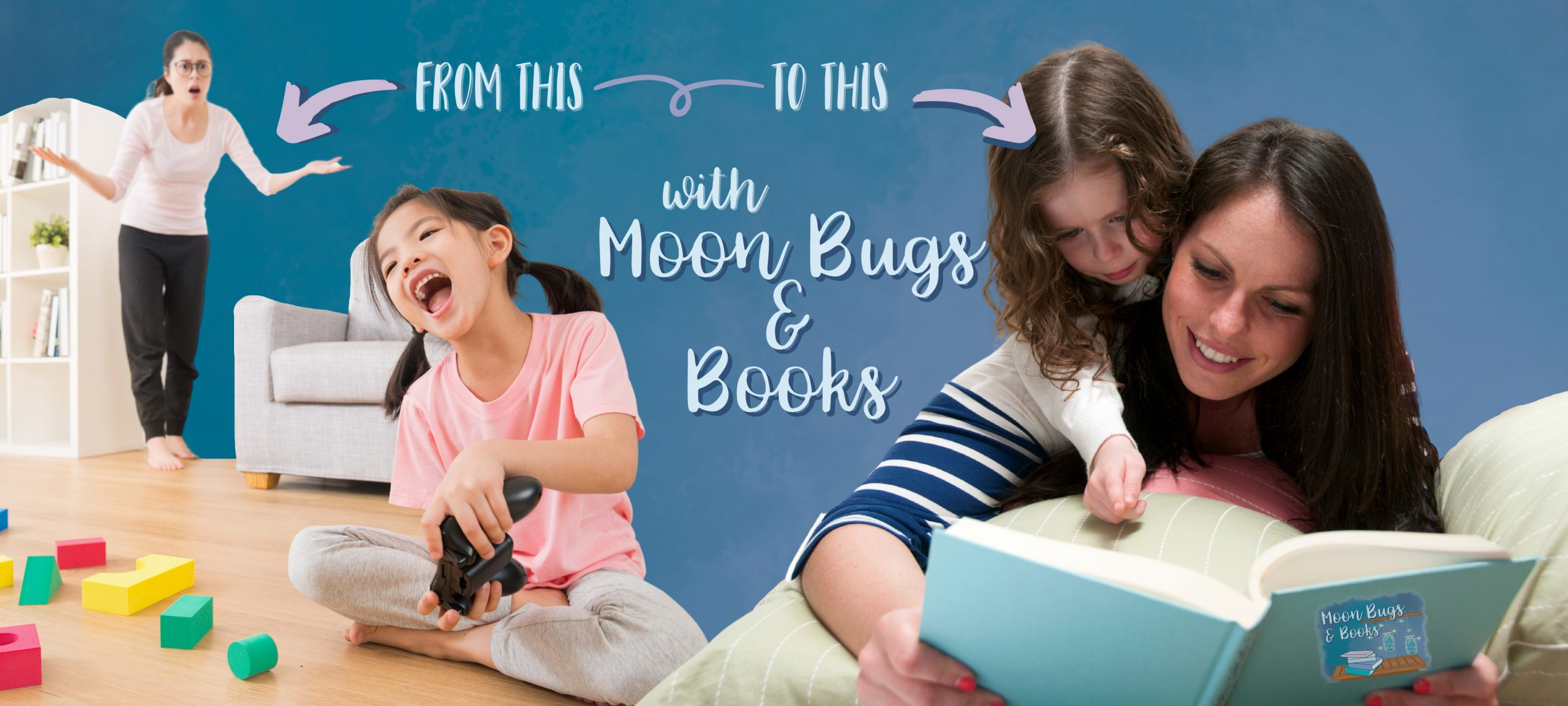 Go from a kid obsessed with video games to a kid interested in reading with Moon Bugs and Books!